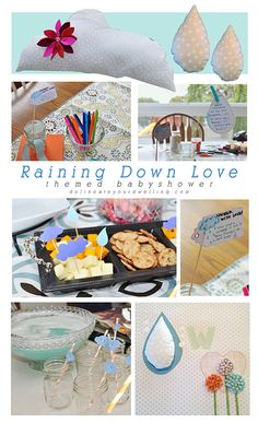 Raining Down Love themed Baby Shower