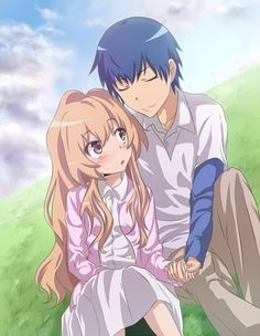 Day My favorite anime is Toradora. Toradora is the perfect blend of drama and humour and romance. And I'm a sucker for a good romance. Manga Anime, Me Anime, Anime Kawaii, Manga Art, Anime Art, Anime Toradora, Otaku, Tsundere, Manga Love