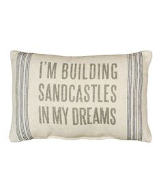 This 'Sandcastles' Pillow by Primitives by Kathy is perfect! #zulilyfinds (for the nursery)
