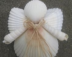 Seashell Angel ornament by SeashellSensations on Etsy