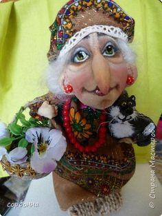 Куклы Шитьё грунтованный текстиль бабки Ежки и Домовички Ткань фото 1