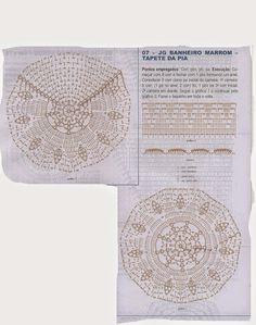 Crochê Gráfico: Jogo de banheiro em crochê