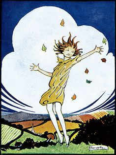 """Wild Girl in Autumn Wind"" from a collection of stories & poems called ""From Number Two Joy Street"". D. Appleton & Co., 1924."