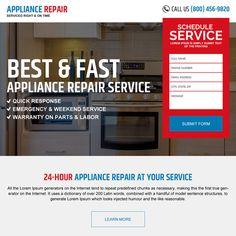 appliance repair responsive landing page design Appliance repair example Lorem Ipsum Text, Real Estate Website Design, Appliance Repair, Landing Page Design, Web Design, Appliances, Gadgets, Design Web
