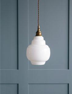 Opal Glass Pendant Light - Small