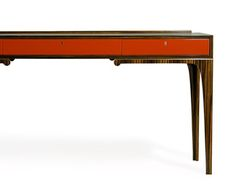Gazelle Desk - Macassar Ebony and Lacquer