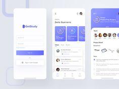Get Study Dashboard App by graha caesara for Pixelz Studio on Dribbble Dashboard Mobile, Mobile App Ui, Website Layout, Web Layout, Ui Website, Clean Web Design, Ux Design, Design Layouts, Flat Design