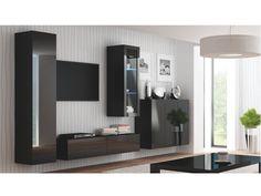 LIVO vzorová sestava 4, černá Příkladová sestava obývacího pokoje LIWO. Uvádíme pouze jako ilustrativní příklad jedné z možných sestav, kterou lze poskládat z jednotlivých segmentů. Jednotlivé díly si je možno vybrat a koupit každý zvlášť. … Bathroom Lighting, Mirror, Live, Furniture, Home Decor, Bathroom Light Fittings, Bathroom Vanity Lighting, Decoration Home, Room Decor