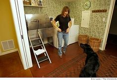 Maybe the garage utility sink could be big enough to bathe the dog.