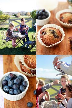Delicious Healthy Banana Blueberry Muffins #recipe from YummyMummyKitchen.com