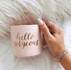 Hello gorgeous with gorgeous ring and gold bracelet #gorgeousjewelry #goldbracelet Organize your jewelry with a jewelry armoire