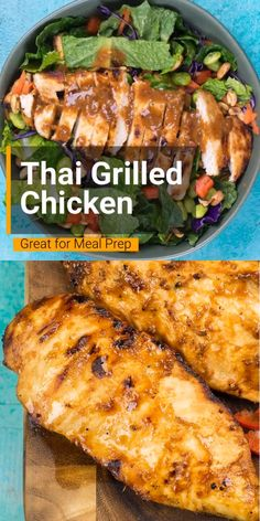 Thai Grilled Chicken Thai Grilled Chicken is the perfect combination of sweet and spicy! This chicken makes an incredible dinner, salad or wrap option. Thai Grilled Chicken, Grilled Chicken Recipes, Easy Chicken Recipes, Asian Recipes, Thai Chicken Marinade, Rotisserie Chicken, Grilling Recipes, Lunch Recipes, Easy Dinner Recipes