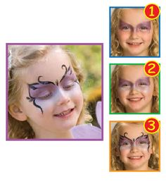 Snazaroo™ Face Painting: Sparkle Butterfly #halloween #facepainting