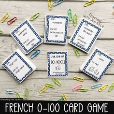Teachers know we have to make learning fun to be meaningful, and this cooperative french number game does just that! Students use their listening, reading and speaking skills in order to complete the game as a team, all while reviewing french number words (0 to 100). French: I Have, Who Has? 0-100 N... Communicative Competence, French Numbers, Language Immersion, Language Proficiency, French Resources, Number Words, Number Games, Fun Learning, Teaching Resources