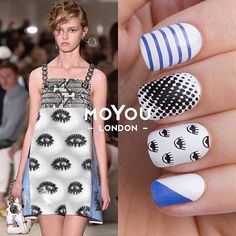 Hipster  11 * Holy Shapes 05 * Pro 11 *  Stamping Nail Polishes: * White Knight * Black Knight * Blue Jay