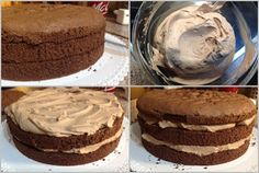 Pařížský dort Fondant, How Sweet Eats, Sweet Desserts, Vanilla Cake, Tiramisu, Brownies, Food And Drink, Cheesecake, Pie