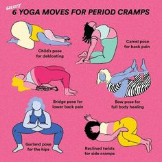 Low-lift poses to help get those menstrual cramps Out 👏 The 👏 Door. Don't want to get off the couch? Do them on the couch 🧘‍♀️ via Yoga Flow, Yoga Meditation, Menstrual Yoga, Period Hacks, Period Tips, Yoga Moves, Pilates Yoga, Pilates Reformer, Period Cramps