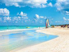 Varadero is one of the most popular beaches in Cuba, thanks to its efficient transportation and local bars. Varadero Kuba, Cuba Island, Cuba Beaches, Going To Cuba, Hotels, Cuba Travel, Travel Tourism, Havana Cuba, Most Beautiful Beaches