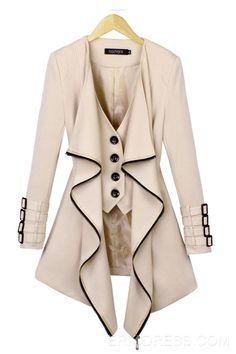 Special Irregular Design Falbala Trench Coats Coats