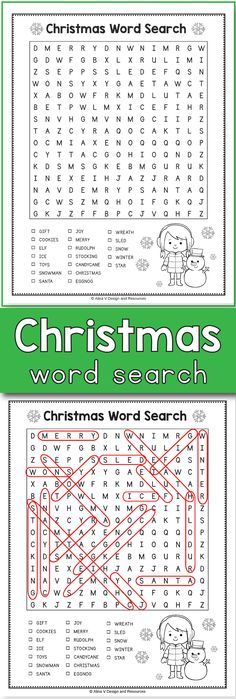 Christmas Word Search - Christmas Activities for 3rd Grade is the perfect holiday activities for your early finishers. You can use this printable for your 2nd grade, 3rd grade and 4th grade students to add some extra fun into your classroom.