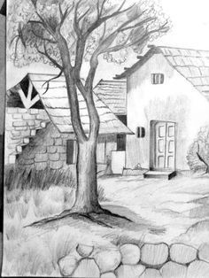landscape sketch easy how to draw - landscape sketch easy ; landscape sketch easy how to draw Shading Drawing, Pencil Sketch Drawing, Pencil Art Drawings, Art Drawings Sketches, Drawing Ideas, Pencil Drawing Tutorials, Nature Drawing, Creative Pencil Drawings, 3d Drawing Tutorial