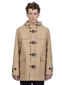 Kris Van Assche - Fall Winter 2014 - Menswear // Beige Duffle Coat In Wool And Cashmere Felt