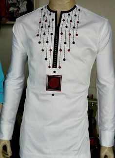 African men's wear/embroidery African by PageGermanyShop on Etsy