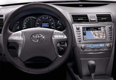 View to Steering Wheel Toyota Camry 2011 With GPS
