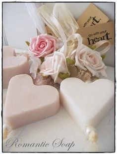 <3 Pretty Heart Shaped Soaps