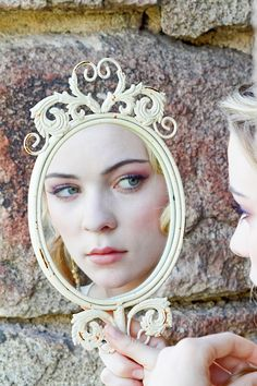 Fairy Tale Tangled Wedding Shoot mirror