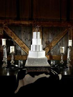 Country Glam Wedding Cake by ToreyTLC - http://cakesdecor.com/cakes/294651-country-glam-wedding-cake