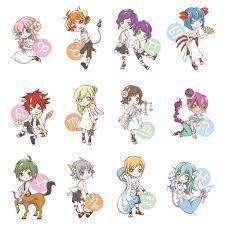Cute Zodiac signs in chibi anime style. Zodiac Symbols, Zodiac Art, 12 Zodiac, Zodiac Horoscope, Horoscopes, Aries, Aquarius, Anime Chibi, Anime Art