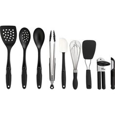 10-Piece OXO® Crock with Tools Set in Cooking Utensils | Crate and Barrel