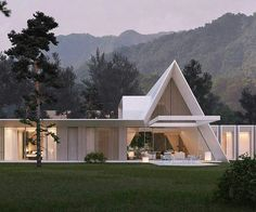 Effective Tips on How to Design A New House - A V. - Effective Tips on How to Design A New House A Mountain House by Artem Babayants - A Frame Cabin, A Frame House, Amazing Architecture, Modern Architecture, Triangle House, Dome House, Eco Friendly House, Design Moderne, New Home Designs