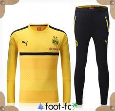 Nouveau Kit Survetement de foot Dortmund BVB Jaune 2016 2017