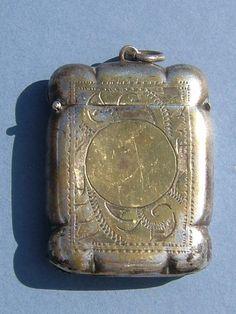 Victorian Antique Silver Plate Vesta Case Match by BiminiCricket, $45.00
