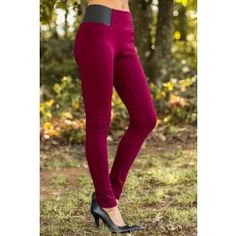 Here To Save The Day Leggings-Burgundy - $32.00