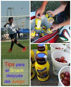 Tips para el Snack del equipo después del juego de Soccer #quikwins #ad