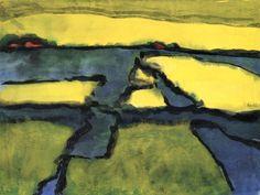Marsh Landscape ~ Emil Nolde | Lone Quixote | #EmilNolde #nolde #expressionism…