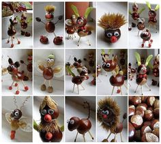 Chestnut Crafts Ideas - Nature Crafts Ideas - Fall Crafts to Make and Sell Kids Crafts, Diy Projects For Kids, Diy For Kids, Diy And Crafts, Arts And Crafts, Art Projects, Autumn Crafts, Nature Crafts, Autumn Activities