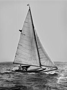 "Nat Herreshoff's final boat, a 1924, 30' sailboat named ""Pleasure""."