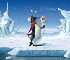 Ha!ha! He's enjoying a frozen fish onna stick!! By loopydave