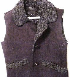 New women's medium Wooley Bully vest jacket, stylish black synthetic, cozy #WooleyBully #Vest #Outdoor