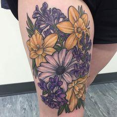 Daffodil Flower Tattoo – Best Flower Tattoos For Women: Cute Floral Tattoo Desig… Finger Tattoo – Fashion Tattoos Daffodil Flower Tattoos, Purple Flower Tattoos, Carnation Tattoo, Hibiscus Tattoo, Birth Flower Tattoos, Flower Tattoo Meanings, Beautiful Flower Tattoos, Peonies Tattoo, Floral Tattoos