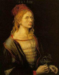 Auto-retrato, 1493 Albrecht Dürer (Nuremberg 1471 — 1528) óleo sobre tela, 57 x 45 cm Museu do Louvre, Paris