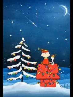 Courtesy to the owner: I just saved it to my board for personal use, I like it, 🥰 Christmas Scenery, Peanuts Christmas, Merry Christmas Greetings, Charlie Brown Christmas, Colorful Christmas Tree, Christmas Drawing, Christmas Art, Animated Christmas Pictures, Christmas Live Wallpaper