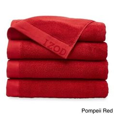 Izod Classic Egyptian Cotton Bath Towel (Set of (Pompeii Red) Bathroom Red, Chinese Bathroom, Bathroom Ideas, Red Bathroom Accessories, Egyptian Cotton Towels, Linen Store, Bath Linens, Bath Towel Sets, Diy Chair