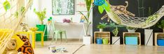 Colorful kids room by bialasiewicz. Colorful tropical themed room for kids with blackboard wall Natural Nursery, Blackboard Wall, Photoshop, Free Graphics, Lany, Blackboards, Room Themes, Galaxy Wallpaper, Creative Decor