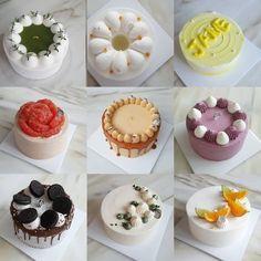 Image may contain: food Pretty Cakes, Cute Cakes, Yummy Cakes, Mini Patisserie, Korea Cake, Asian Cake, Buttercream Flower Cake, Cute Desserts, Dessert Decoration
