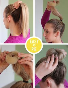 how to make the perfect donut bun!!! Buy it at essentials, Claire's, and other beauty /  accessories store
